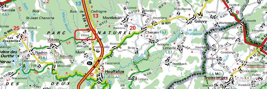 Localisation de Dinez sur carte